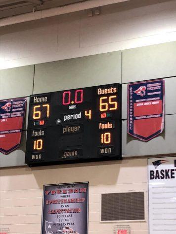 Impressive Senior Night for Boys' Basketball Team