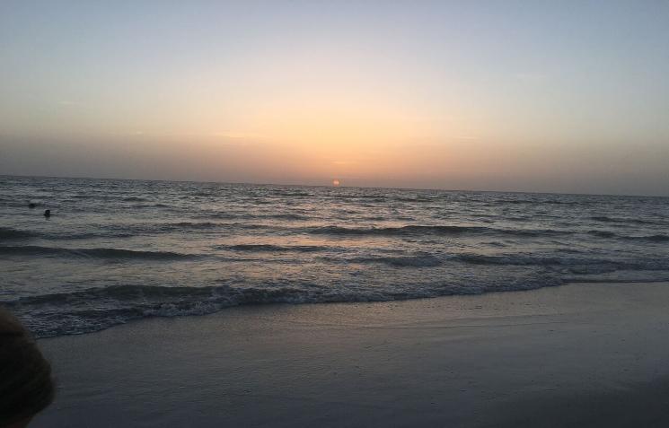 The+sun+setting+over+St.+Pete+Beach.
