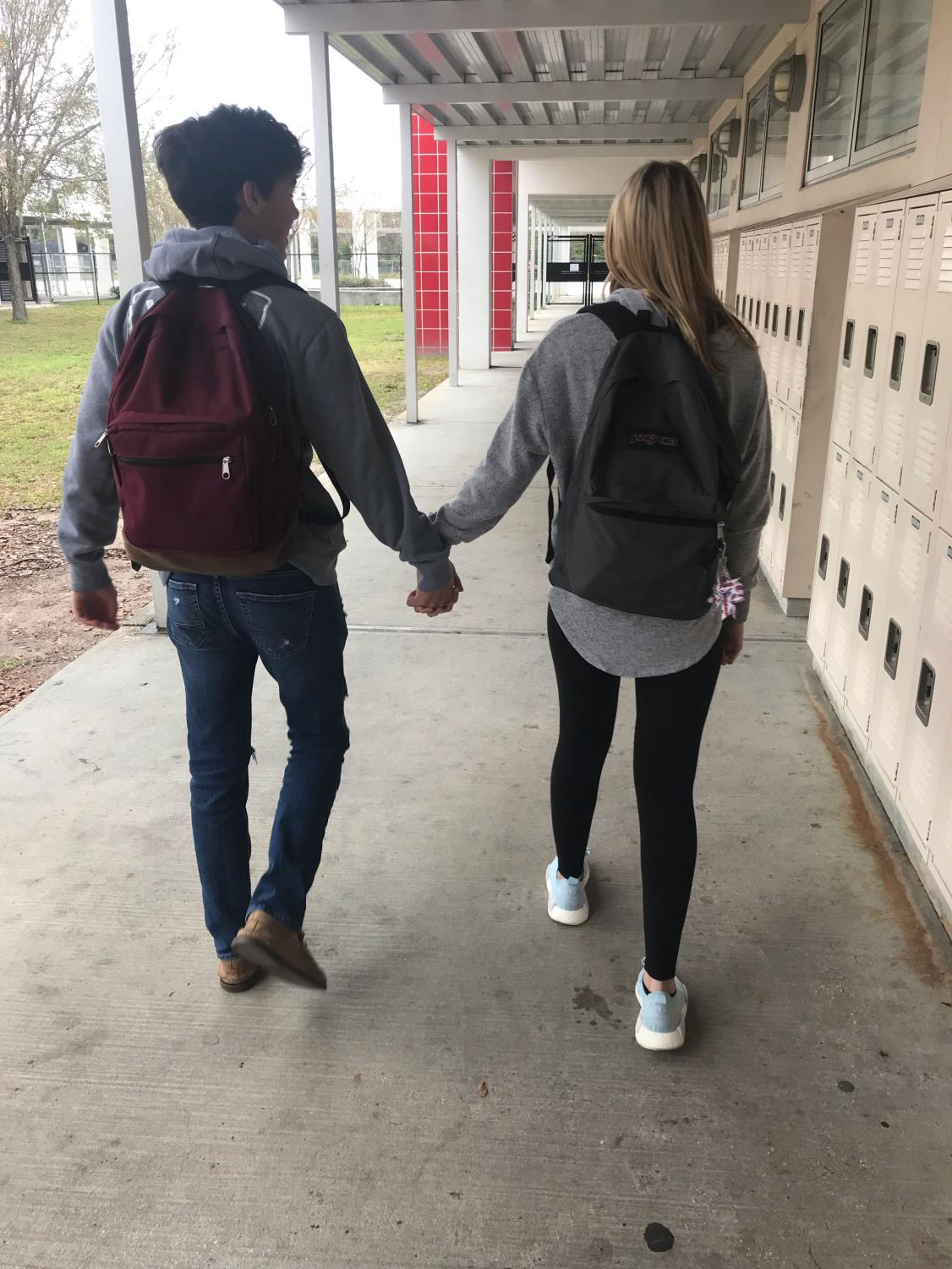 holding hands on second date