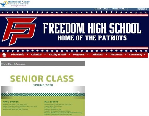 The front page of the Freedom Website still has important senior dates listed - but most seniors have already faced thereality that their senior year is over.