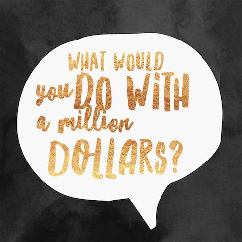 what would you do with 1 million dollars