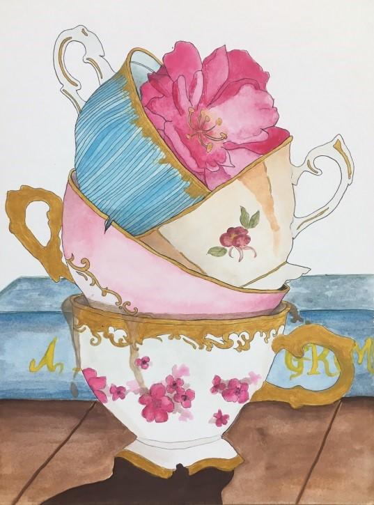 Hibiscus.+Watercolor.+2016-7.