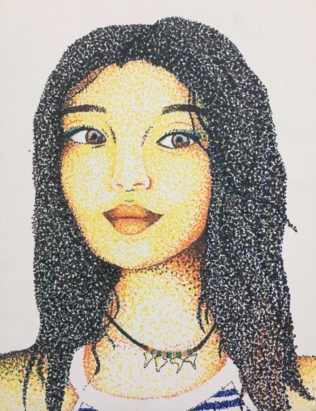 Self Portrait. Marker. 2016-7. Follow her on Twitter @kk_soto14