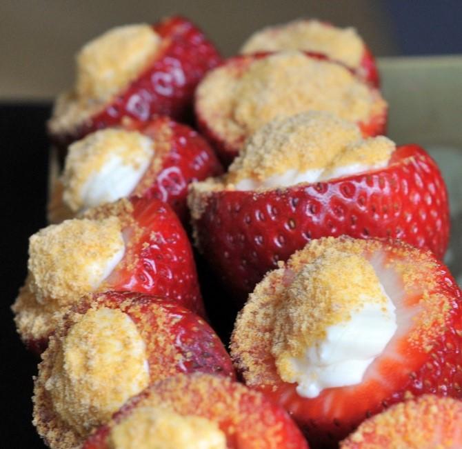 Cooking with Hayden: Cheesecake Stuffed Strawberries