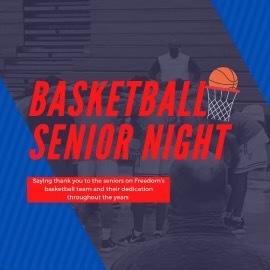 The Boys Basketball Team Celebrates Senior Night